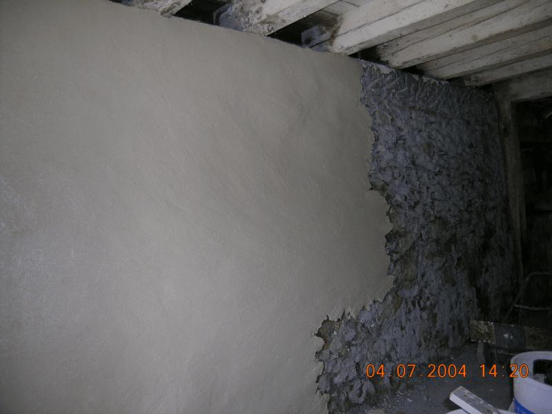 Crepi chanvre sur murs en moellons