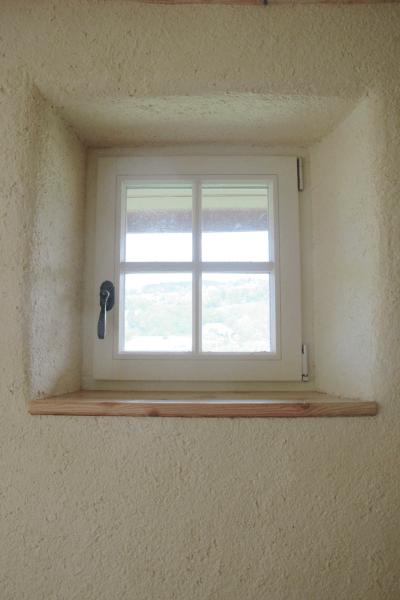 Embrasure de fenêtre d'un enduit chanvre