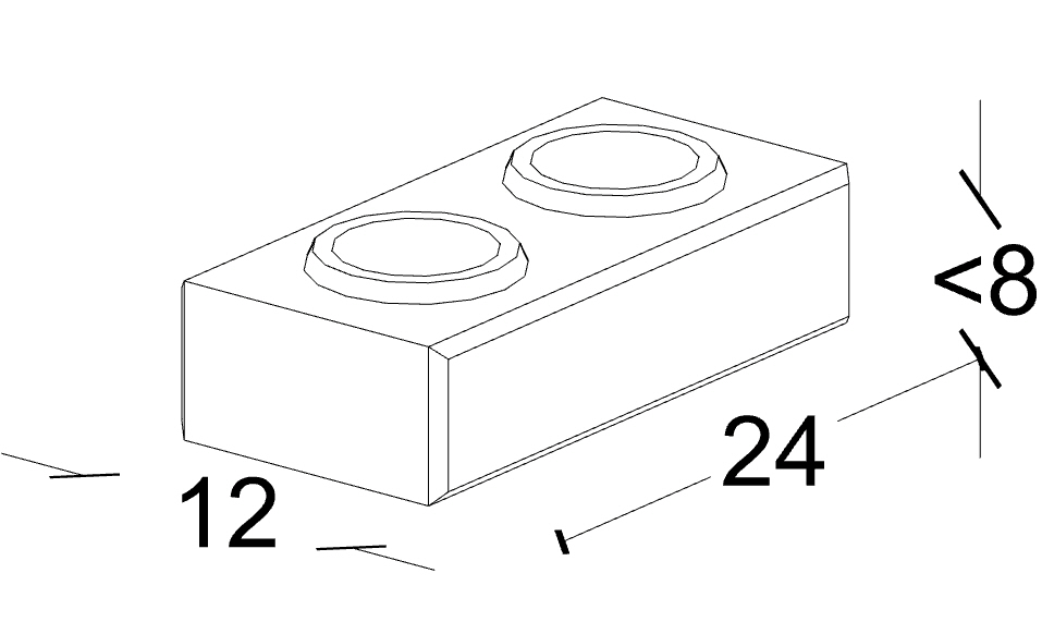 Brique modulaire base 2
