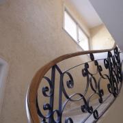 Enduit chanvre dans cage d escalier