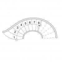 Escalier courbe 1